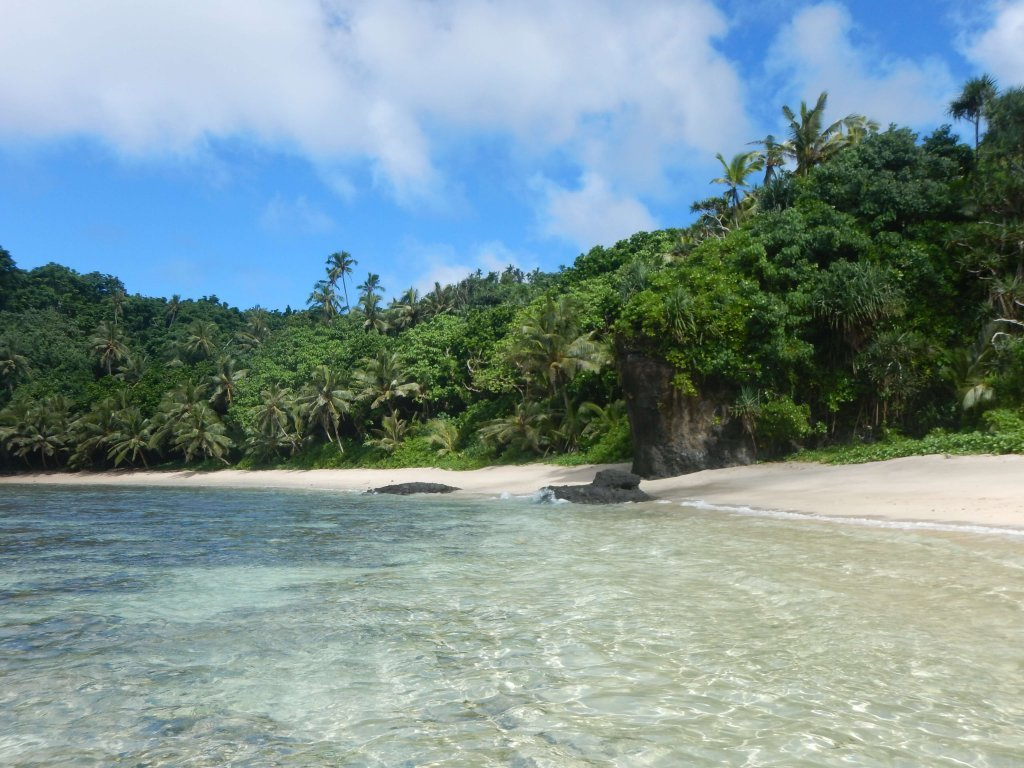 Things you can see in American Samoa include secluded beaches.