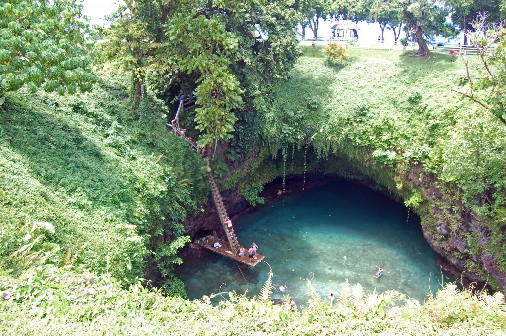 To Sua Ocean Trench from above